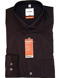 Olymp luxor chemise style moderne-noir - 41 de régler l'encolure