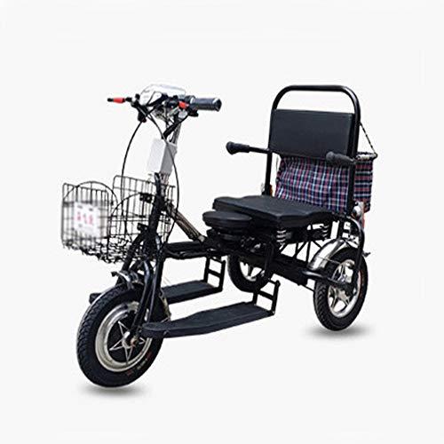 Hebbp1 Elektrischer Trike-Roller Faltbares Lithium-Protable-Mobilitäts-dreirädriges Stadt-Motorrad Für ältere Behinderte Dreirad-Roller
