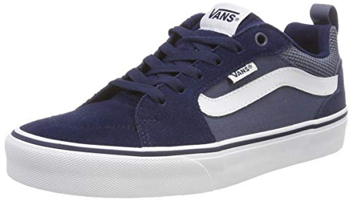 Blau Skateboard Schuh (Vans Herren FILMORE Suede/Canvas Sneakers, Blau Dress Blues/Vintage Indigo T2l, 46 EU)