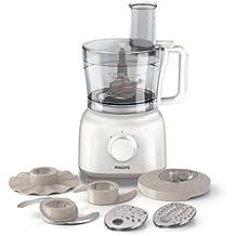Philips HR7627/02 Küchenmaschine (Knethaken, 650 Watt, 2 Geschwindigkeiten) weiß