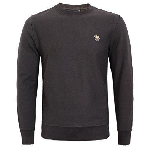 Preisvergleich Produktbild Paul Smith Herren Rundhals Zebramuster Logo Pulli,  S,  M, L, XL, XXL - Dunkelgrau,  M