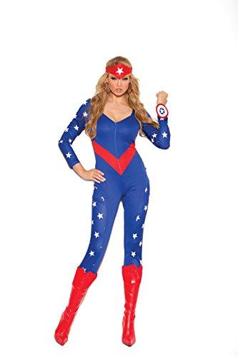 Zabeanco Damen Patriotische American Super Hero Rollenspiel-Kostüm - Mehrfarbig - (Frauen Bürgerkrieg Kostüm)