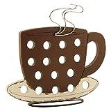 Disraeli Porta Capsule Caffè, Organizzatore Cialde in Legno a forma di Tazza, 40x10xH37 cm
