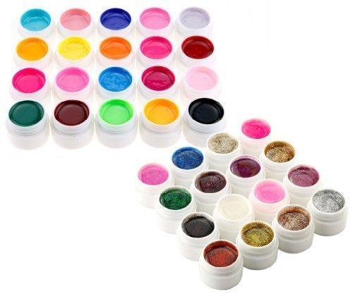 36-donschen-gemischte-farben-uv-gel-set-pur-u-glitzern-farben-uv-builder-gel