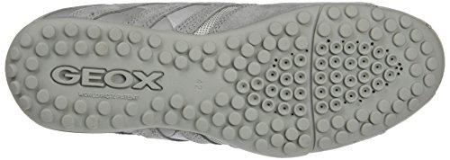 Geox Herren Uomo Snake E Sneaker Grau (lt Grigio)