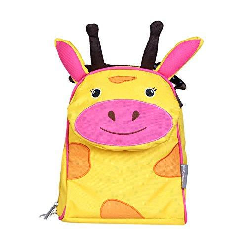 My Milestones PVC-Free Kids/Toddler/3D Animal faced Premium Lunch Bag/Preschool Bag – Giraffe