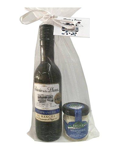 Detalle con vino original para regalo de empresas