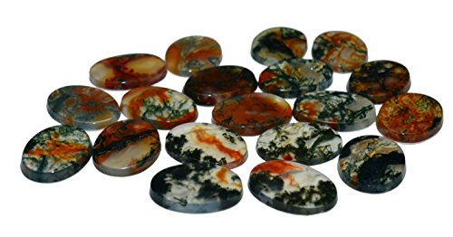 Muschio agata pietre anello pietre cabochon schliffe 145.5carati