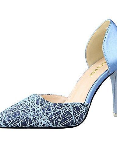 WSS 2016 Chaussures Femme-Bureau & Travail / Habillé / Décontracté / Soirée & Evénement-Noir / Bleu / Rose / Blanc / Argent / Or-Talon Aiguille- black-us7.5 / eu38 / uk5.5 / cn38