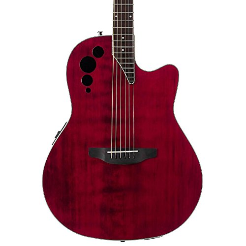 GUITARRAS ELECTRO ACUSTICAS OVATION APPLAUSE ELITE AE44II RR RUBY RED FOLK DANCE