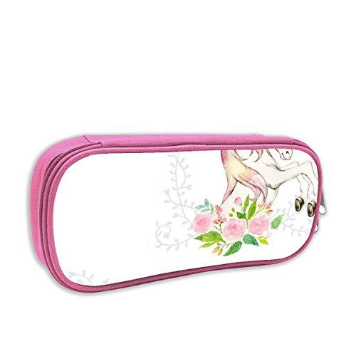 astuccio per bambini portatutto,Dolce Unicorno floreale, rosa