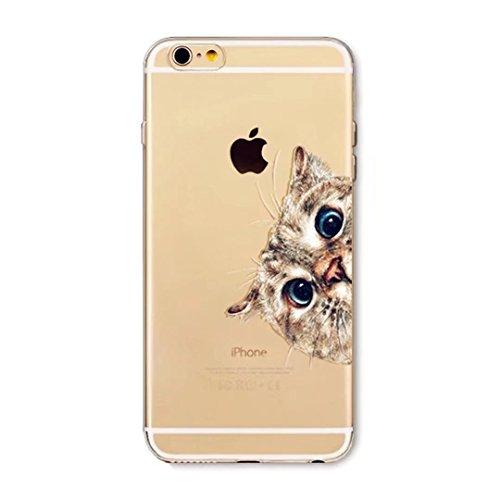 Custodia iPhone 6 6S 4.7 TXLING Cover Serie Silicone TPU Cassa Ultra Sottile Case Protettiva Morbida Flessibile Caso Liscio Leggero Custodia Antigraffio Antipolvere Cover- unicorno marrone gatto