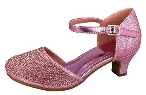 Lora Dora Mary Jane Zapatos Fiesta tacón bajo Purpurina