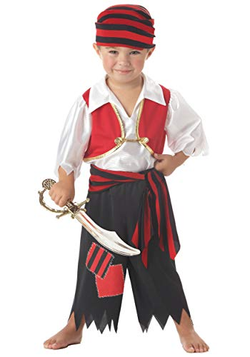 Für Immer Junge Jungen Piraten Kostüm Unisex Mädchen Kleinkind Kinder Kostüm Halloween Kostüm 9-11 Jahre (Piraten Mädchen Kleinkind Kostüm)