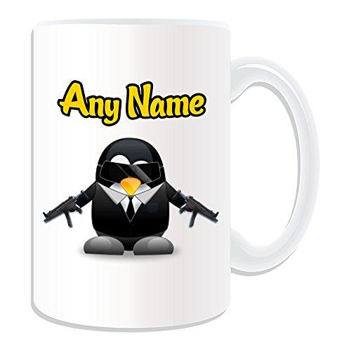 Kostüm Bond Girl (Personalisiertes Geschenk, großer James Bond 007Tasse (Pinguin Film Charakter Design Thema, weiß)–Jeder Name/Nachricht auf Ihre Einzigartiges–Kostüm Film Superheld Hero Agent Kurzgeschichten Secret Intelligence Service)