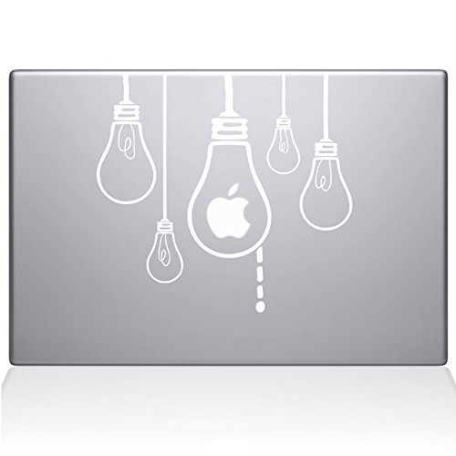 Die Aufkleber Guru Idee Leuchtmittel MacBook Aufkleber Vinyl Aufkleber-38,1cm MacBook Pro (2016& neuere)-Weiß (0190-mac-15X -w)