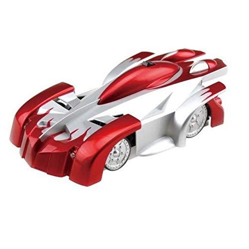 XuBa Kinder ferngesteuertes Auto, elektrisches Spielzeug, ferngesteuertes Spielzeug, Spiderman, Wandklettern, Kletterer rot