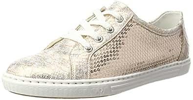 Rieker Damen L0900 Sneaker, Gold (Rose/Lightrose/31), 38 EU