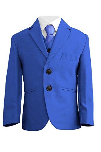 en Anzug, 5-teilig, schlanke Passform, Hochzeit, Party, Blau, Alter: 1Jahr-14Jahre Gr. 8 Jahre, blau (Schlanken Anzug)