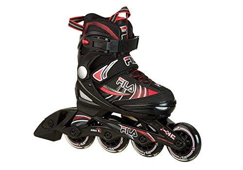 Fila Jungen Kids-Inline-Skates J-One, Schwarz/Rot, S (28-32) -