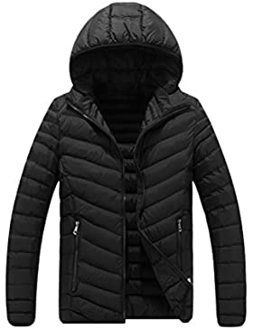 Zhhlinyuan Mode Men's Thin Hooded Warm Padded Jacket Coat Winter Outdoor Outerwear