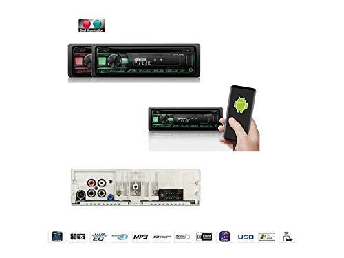 Alpine-CDE-201R-1-DIN-Autoradio-CD-USB-AUX-fr-Renault-Trafic-II-JLFLEL-2001-2010-schwarz