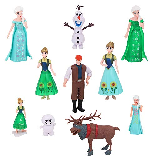 Rvold Frozen Characters Action Figure Toys (6Pcs - Cake Topper) Multi Color