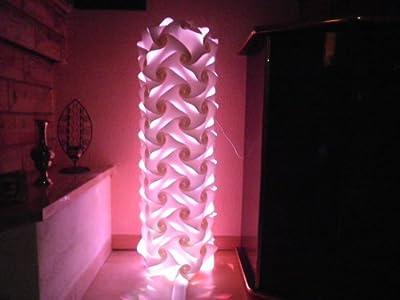 """Lichtsäule """" Venedig """" Höhe 90 cm Standleuchte Standlampe Stehlampe Stehleuchte Bodenlampe Bodenleuchte Stand Steh Boden Lampe Leuchte inkl. LED Farbwechsler mit Fernbedienung"""