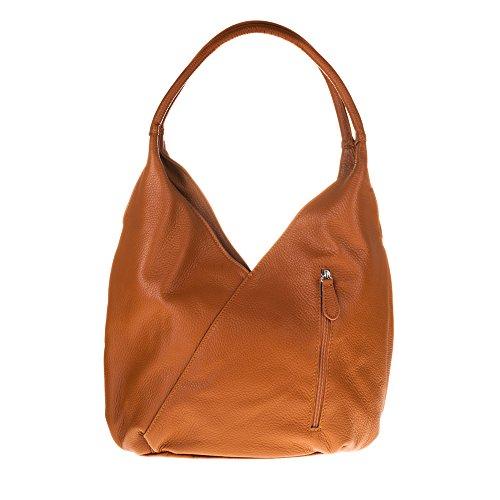 FIRENZE ARTEGIANI.Bolso Shopping Bag de Mujer Piel auténtica.Bolso Hombro Mujer Cuero Genuino....