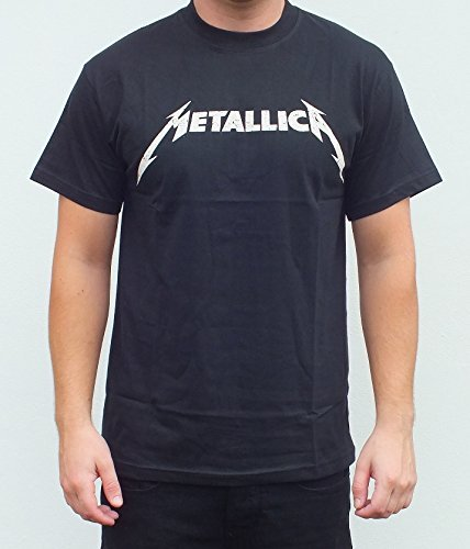 RGM843 Metallica Logo Black T-shirt Size: MEDIUM -