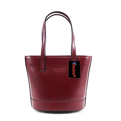 HB Style, Borsa a mano donna Multicolore Beige Burgundy