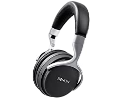 Denon AHGC20EM Wireless Over-Ear Headphones (Black/Silver)