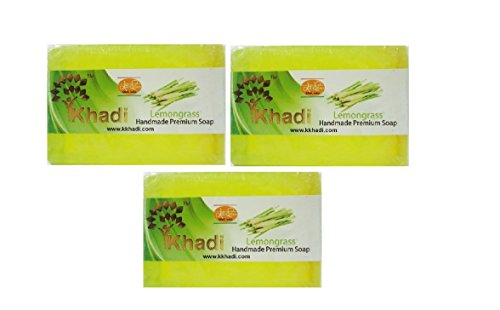khadi Lemongrass Handmade Premium Soap (pack Of 3) 125g x 3 With Ayur Lotion 50 ml  available at amazon for Rs.252