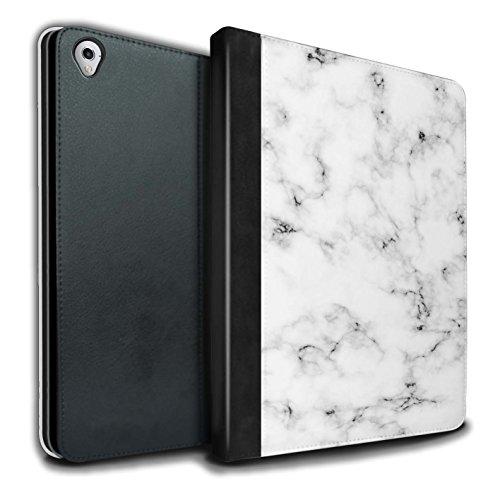 Weißen Granit-fliesen (Stuff4® PU-Leder Hülle/Case/Brieftasche für Apple iPad Pro 9.7 Tablet/Weiß Muster/Marmor Granit Bewirken Kollektion)