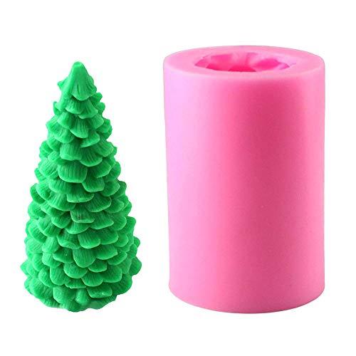 Kerzenmühle 3D Weihnachtsbaum Kerze Form Weihnachten Party Silikon Form für Fondant Fimo Ton Seife Schokolade Kuchen Dekoration