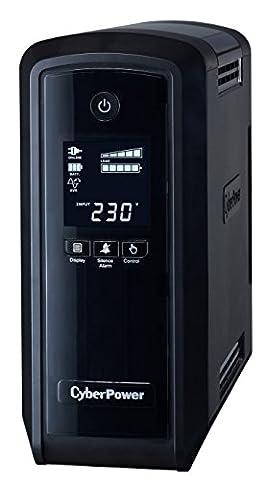 Cyberpower CP900EPFCLCD Onduleur 900 VA/540 W Sinewave PFC, technologie Green Power, écran LCD, port USB, logiciel de gestion