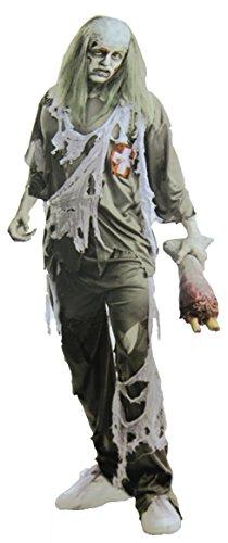 Zombie- Geist Doctor Damen-Herren-Kostüm Grösse L 52 54 Halloween Fasching-Karneval Chirurg- Arzt- (Kostüme Große)