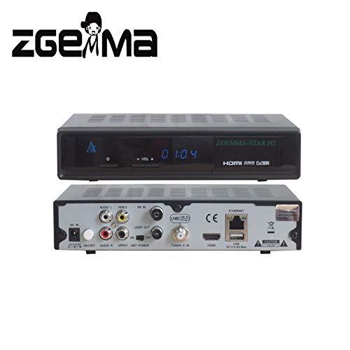 ZGEMMA STAR H2 Combo Receptor De TV FTA Linux OS DVB-S2+ DVB-T2/C Dos...