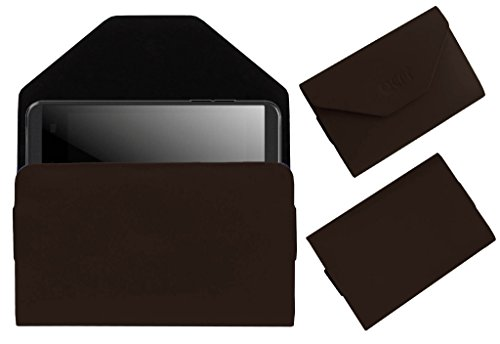 Acm Premium Pouch Case For Karbonn Smart A15+ Flip Flap Cover Holder Brown  available at amazon for Rs.179