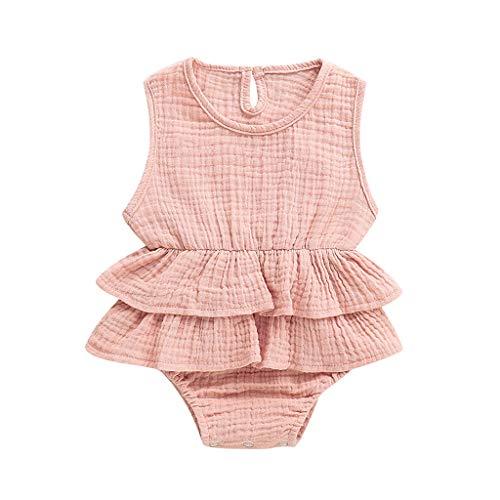 DEELIN Baby Mädchen Junge Ärmellos Gekräuselte Einteiliger Strampler Kleinkind Spielanzug 0-24 Monate Prinzessin Neugeborenes Kleidung
