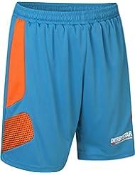 Derbystar Aponi Pro Short de gardien de but Pantalon Bleu pétrole/orange