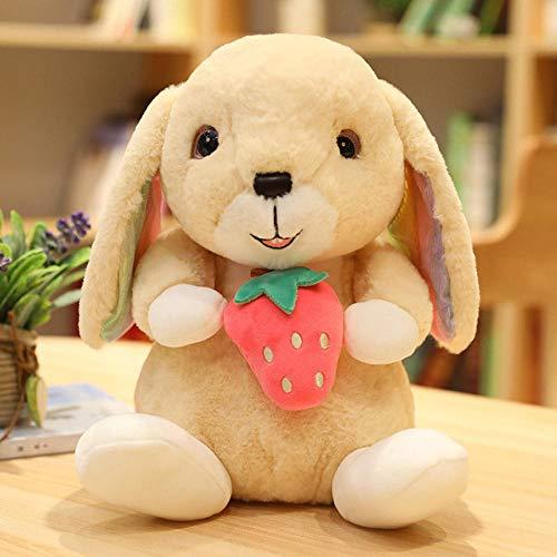 NIANMEI New Soft Simpatico Coniglio Frutta Peluche Cartone Animato Peluche Animale Coniglio Bambola Famiglia Decorazione Bambino Compagno Giocattolo Fidanzata Compleanno Regalo di Natale-B_40cm