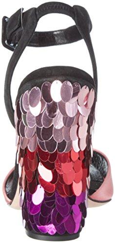 Sebastian S7308, Sandales  Bout ouvert femme Multicolore (Mehrfarbig)