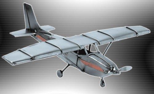 Boystoys HK Design - Cesna Flugzeugmodell Motorflieger 40 cm - Metall Art Geschenkideen Deko...