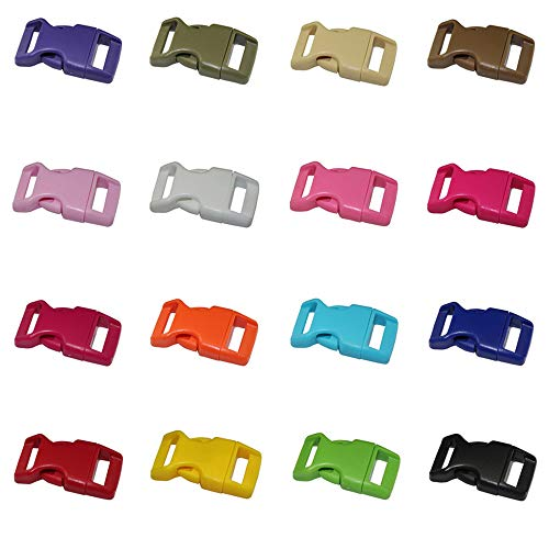 Ogquaton Plastic buckles Quick release fastening Plastic buckles Lateral release buckles Belt clips DIY strap Red Craft Backpack 10 Parts