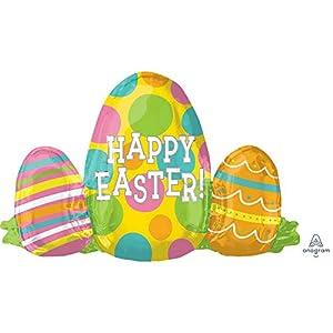 Amscan International Anagram 3697901 - Globo de aluminio con forma de huevo de Pascua, color