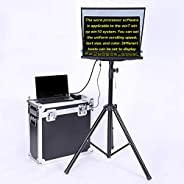 Teleprompter for News Interview Conference Speech Studio Dedicated 22 Inch Portable Foldable Teleprompter Kit