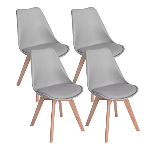 DORAFAIR Pack 4 sillas escandinava Estilo