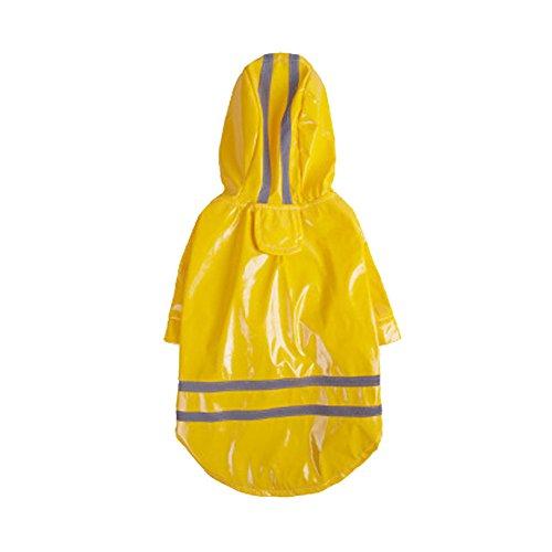 Sommer im Freien Puppy Pet Regen Mantel Hoody Wasserdichte Jacken PU Regenmantel für Hunde Katzen Kleidung Kleidung Yellow ()