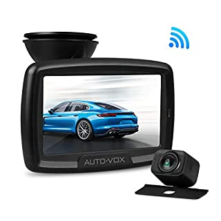 AUTO-VOX Digital Wireless Backup Kamera-Kit, Rückfahrkamera drahtlos CS2, IP68 Wasserdicht Rückfahrkamera 11cm Monitor, Nachtsicht Rückseite Funk Auto-Kamera, interne Antenne, einfache Installation